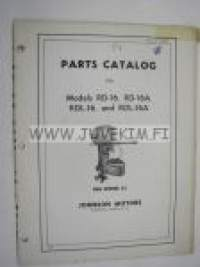 Johnson Sea Horse 25 hp models RD-16, RD-A, RDL-16 and RDL-16A outboards 1954 parts catalog -varaosaluettelo
