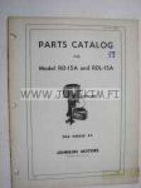 Johnson Sea Horse 25 hp models RD-15A and RDL-15A outboards 19?? parts catalog -varaosaluettelo