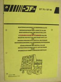 JF ST 70 / ST 90 Mounting instructions and Spare Parts List serial nr 1110- -varaosaluettelo