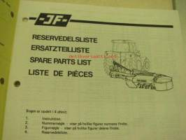 JF CM 1900 Rotorslåmaskine / Drum mower Spare Parts List serial nr 1001- -varaosaluettelo