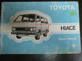 Toyota Hiace Owner`s manual 1983