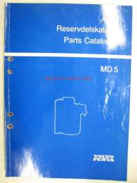 Volvo-Penta MD 5 Reservdelskatalog, Parts Catalogue -varaosaluettelo