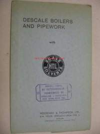 Descale Boilers and Pipework with HTL Scale Solvent