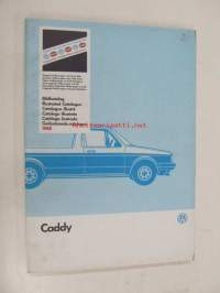 Volkswagen Caddy Genuine Parts Illustrated Catalogue 1988 -varaosaluettelo