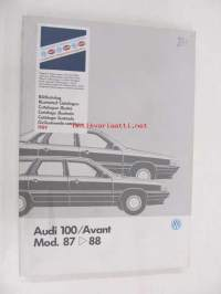 Audi 100 / Avant Mod. 87 > 88 Genuine Parts Illustrated Catalogue 1989 -varaosaluettelo