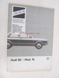 Audi 80 > Mod. 76 Genuine Parts Illustrated Catalogue 1988 -varaosaluettelo