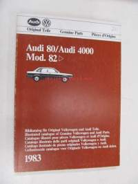 Audi 80 / Audi 4000 Mod. 82 > Genuine Parts Illustrated Catalogue 1983 -varaosaluettelo