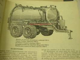 Lietevaunu RZT-8 Organic fertilizer applicator -Parts Catalogue -varaosaluettelo