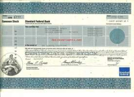 Standard Federal Bank  osakekirja  USA 1987