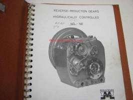 Masson ND-NE Reverse reduction gears, hydraulically controlled, instructions, operation, parts, service -käsikirja alennusvaihteelle