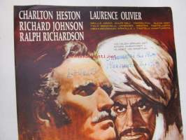 Khartum -elokuvajuliste, Charlton Heston, Richard Johnson, Ralph Richardson, Laurence Olivier