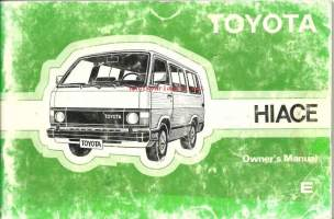 Toyota Hiace, Owners Manual
