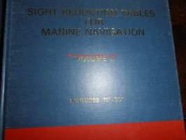 Sight reducation tables for marine navigation - volumes I-IV