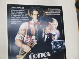 Cotton Club -elokuvajuliste, Richard Gere, Gregory Hines, Diane Lane, Francis Coppola