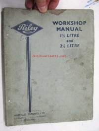 Riley 1,5 litre and 2,5 litre workshop manual -korjaamokirja englanniksi
