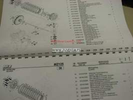 MZ RT125, 125 SX/SM -spare parts list, varaosaluettelo
