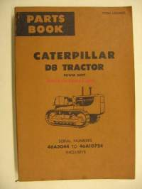 Caterpillar D8 Tractor power shift Parts Book varaosaluettelo