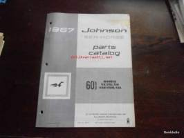 Johnson Sea-Horse parts catalog -varaosaluettelo 1967 60hp VX-VXL-13A, VXH-VXHL-13A