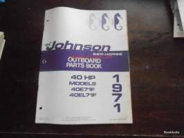 Johnson Sea-Horse parts book -varaosaluettelo 1971 40hp 40E71F, 40EL71F