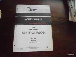 Johnson Sea Horse parts book -varaosaluettelo 1966 40hp