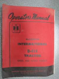 McCormick International B-414 Tractor Diesel and petrol models Operator´s manual
