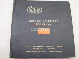 Coles Cranes model S.3010 spare parts catalog -varaosaluettelo