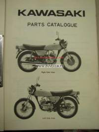 Kawasaki 125-A1 Parts Catalogue for European market -varaosaluettelo