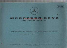 Mercedes-Benz  type LP 810 - LP 1013 - LP 1213 . Body spare parts list  1966