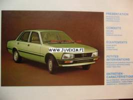Peugeot 505 -instructionsbook