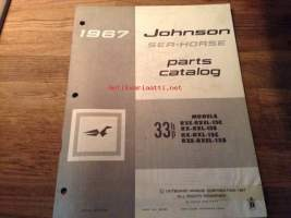 Johnson Sea-Horse parts catalog -varaosaluettelo 1967 33hp