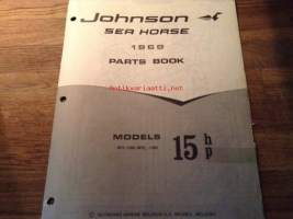 Johnson Sea-Horse parts catalog -varaosaluettelo 1968 - 15Hp