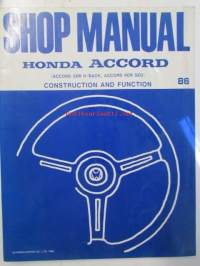 Honda Accord Shop Manual Construction and Function 1986 (Accord 3DR H/Back, Accord 4DR SED), Electrical Wiring Diagram 1986, Maintenance and Repair (Accord 3DR